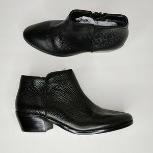 "Sam Edelman ""Petty"" Black Leather Bootie size 7"